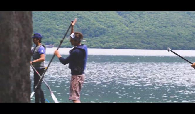 中禅寺湖でモーターボード&SUP体験の動画
