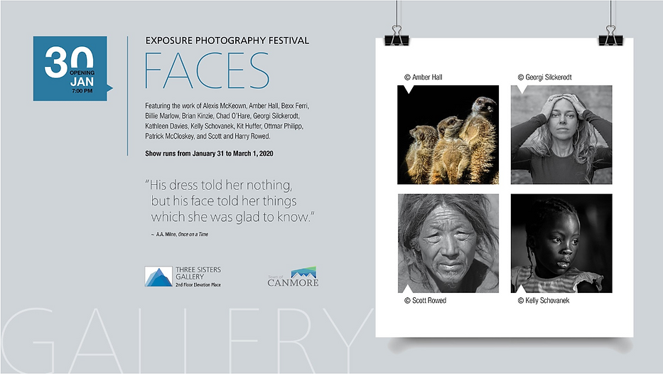 Three Sisters Gallery_Canmore_FACES Exhi