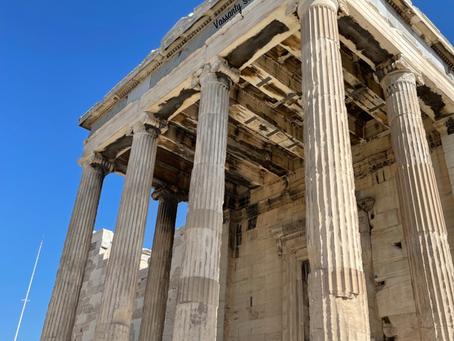 The historical Acropolis of Athena.