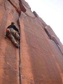 escalade en fissure indian Creeck
