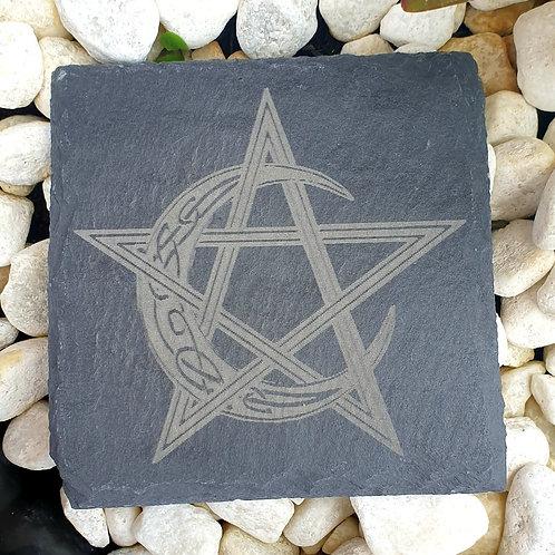 Pentagram crescent moon