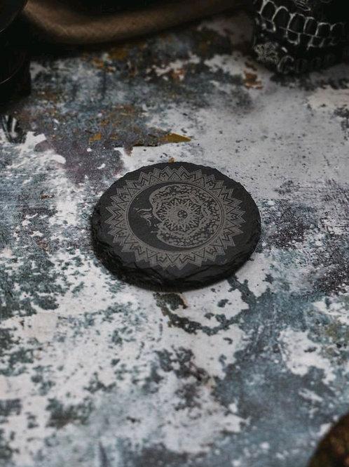 Moon Mandala coaster