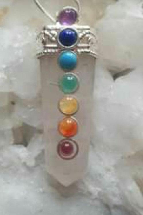 Rose Quartz Chakra necklace