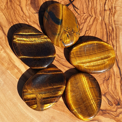 Tigers eye worry stone
