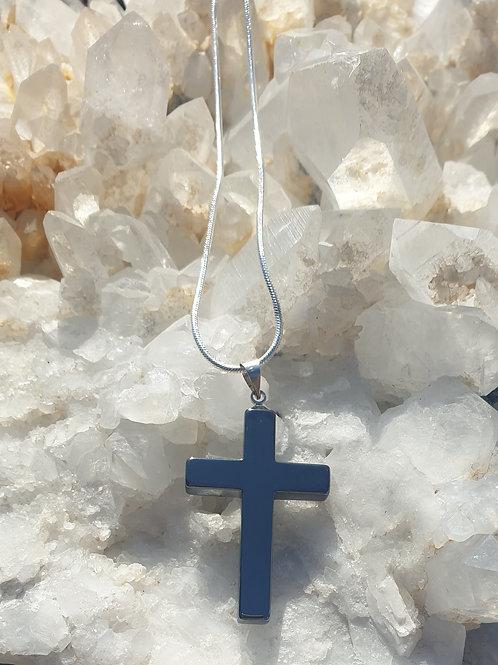 Hemitate cross necklace