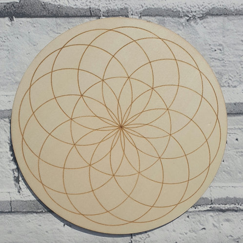 Seed of life crystal grid disc