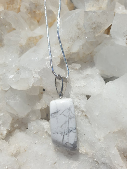 White Howlite necklace