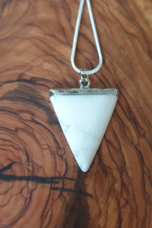 White Howlite triangle