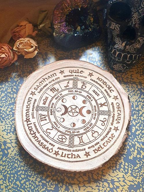 Pentagram Trip moon wheel of the Year