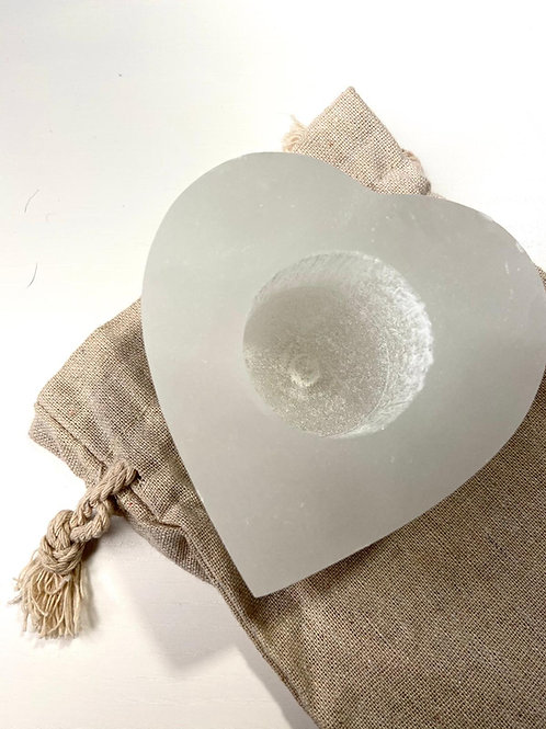 Selenite Tea light