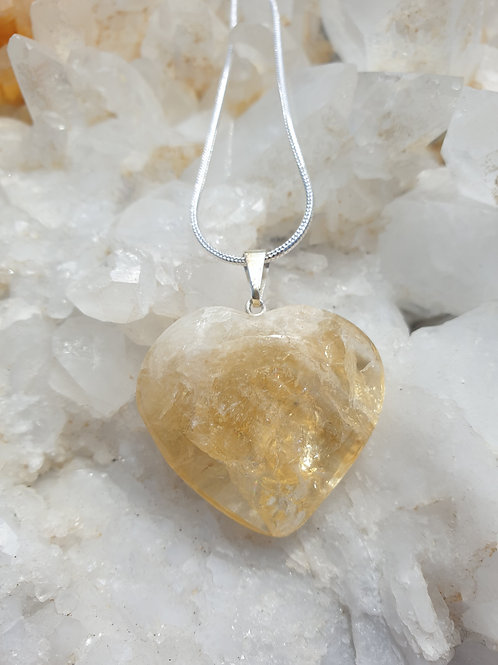 Citrine heart necklace