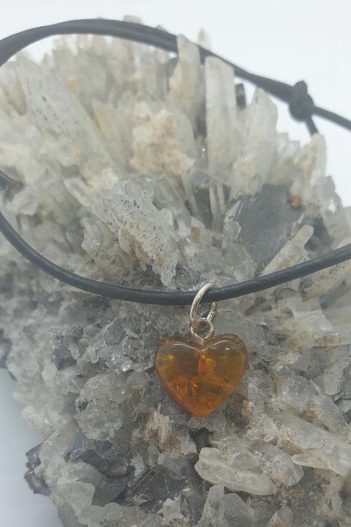 Amber Heart Bracelet