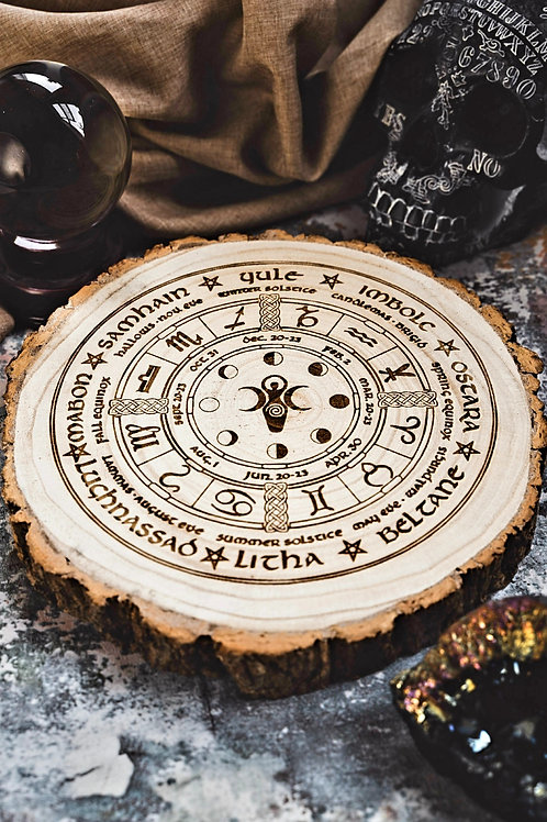 Moon phase pagan wheel large