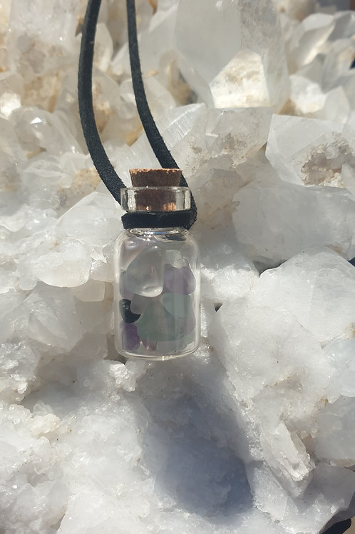 Fluorite bottled necklace