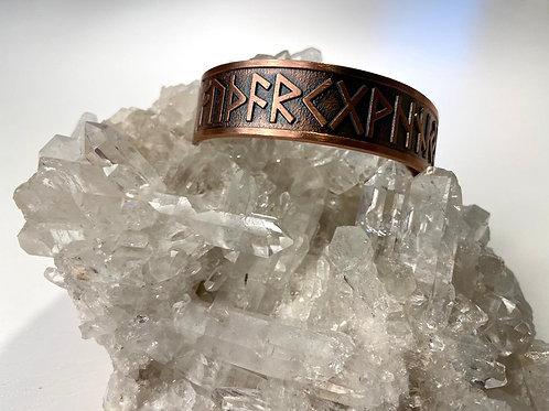 Rune copper bracelet
