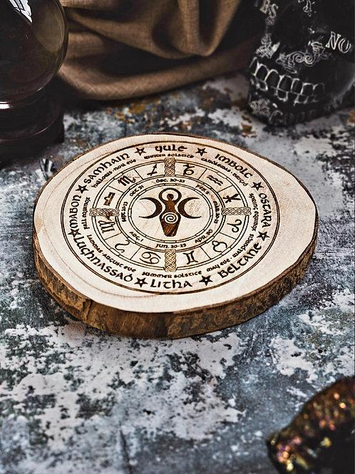 Spiral goddess wheel of the year.