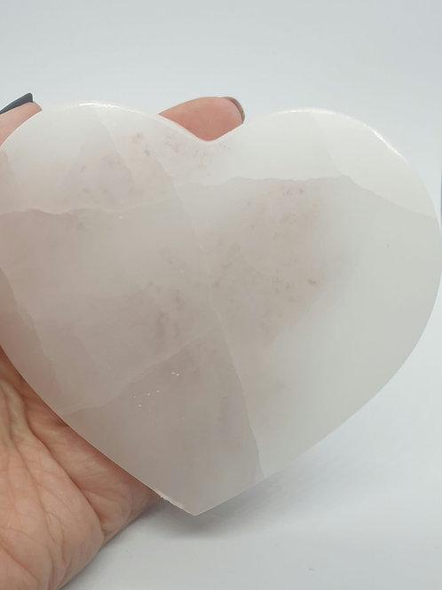 Selenite Heart Slice