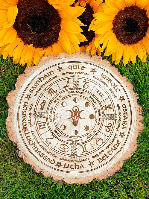 Moon phase pagan wheel