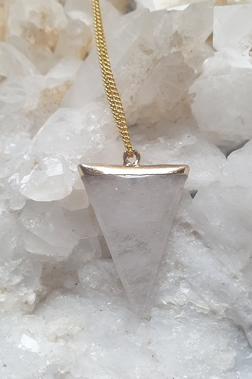 Clear Quartz triangle