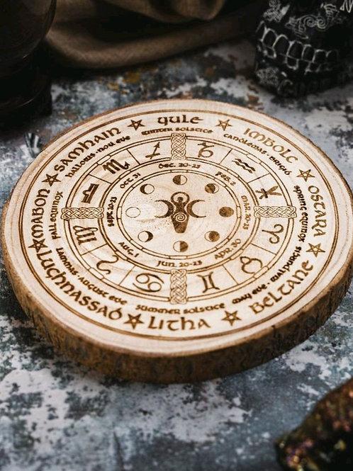 Moon phase pagan wheel