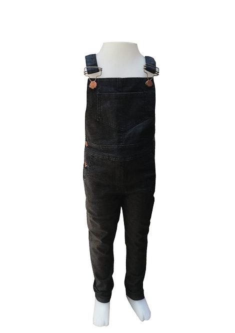 Jardinero de jean Negro de Nena talles del 2 al10