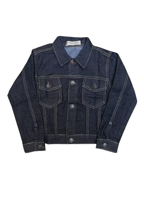 Campera de jean negra talles del 2 al 10