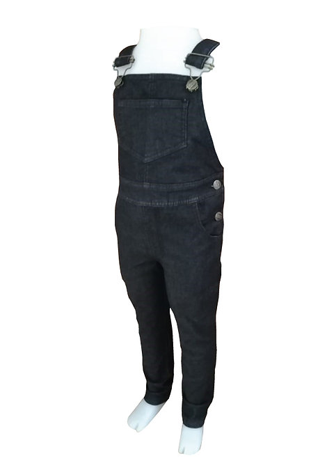 Jardinero de jean Negro de Nene talles del 2 al10
