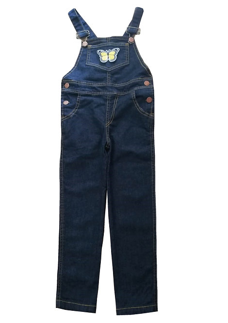 Jardinero de jean Negro de Nena con aplique talles del 2 al 10