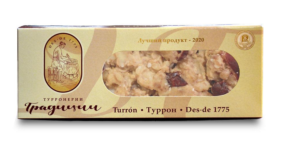 Туррон из цельного грецкого ореха с клюквой