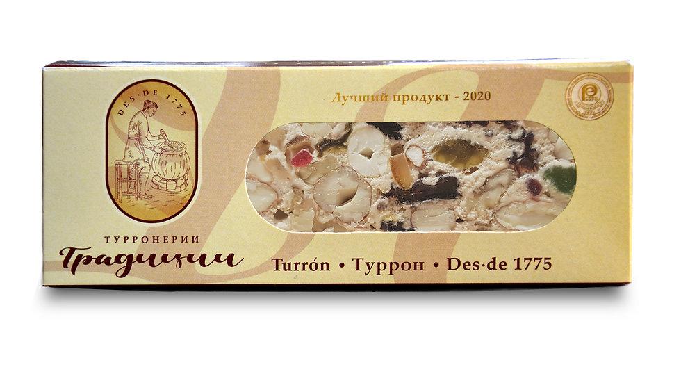 Туррон смесь цельных орехов с сухофруктами и цукатами, 100 г