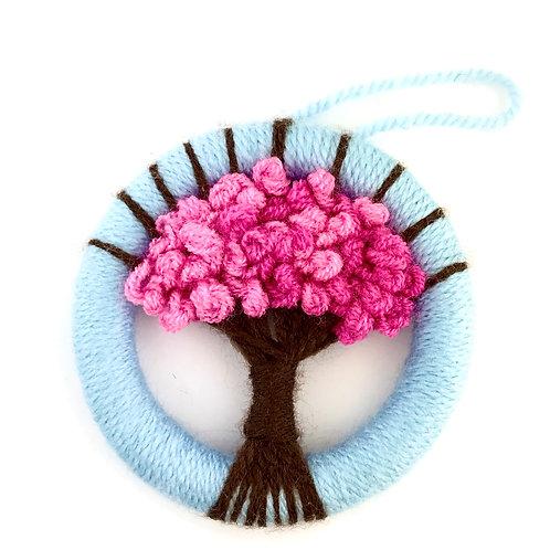Dorset Button Spring Blossom Tree Wall Hanging - Medium