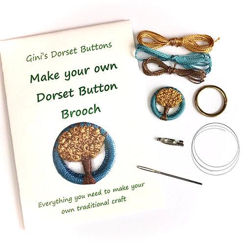 Make your own Dorset Button Kit - Autumn Tree