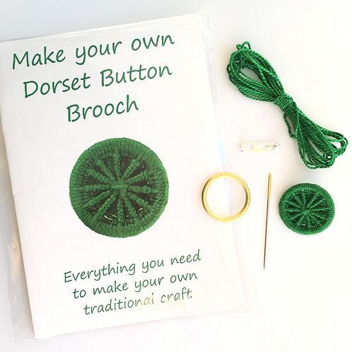 Make your own Dorset Button Kit -Cartwheel -Forest Green