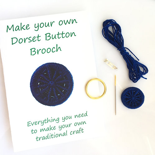 Make your own Dorset Button Kit - Cartwheel - Navy Blue