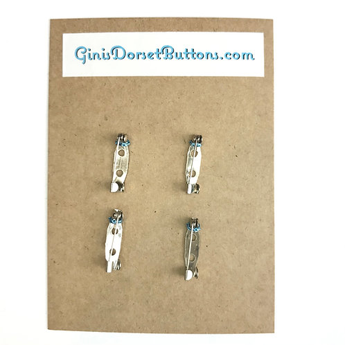 4x 20mm brooch pins for Dorset button making
