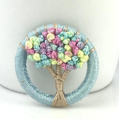 Candy Tree Dorset Button brooch