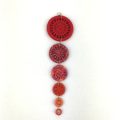 Dorset Button Christmas Decoration - Red Icicle