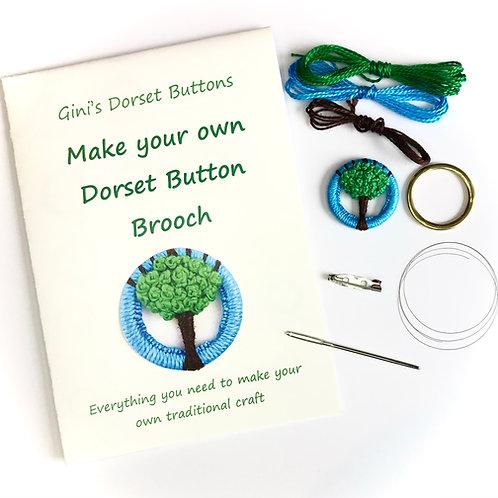 Make your own Dorset Button Kit - Summer Green Tree