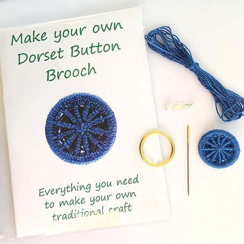 Make your own Dorset Button Kit - Cartwheel - Blue