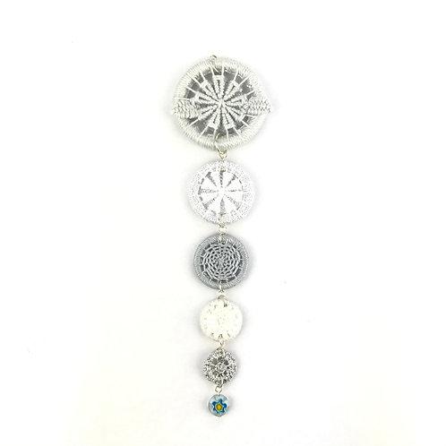 Dorset Button Christmas Decoration - Silver Icicle