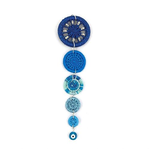 Dorset Button Christmas Decoration - Blue Icicle