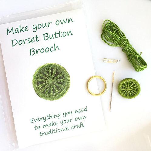 Make your own Dorset Button Kit -Cartwheel - Lime Green