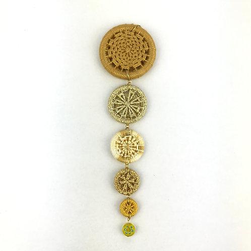 Dorset Button Christmas Decoration - Gold Icicle