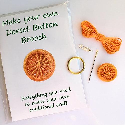 Make your own Dorset Button Kit -Cartwheel -Orange