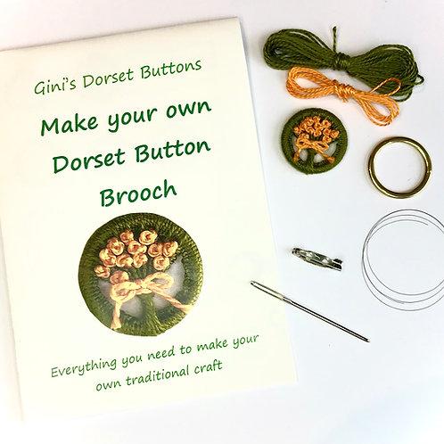 Make your own Dorset Button Kit - Posy - Orange Flowers