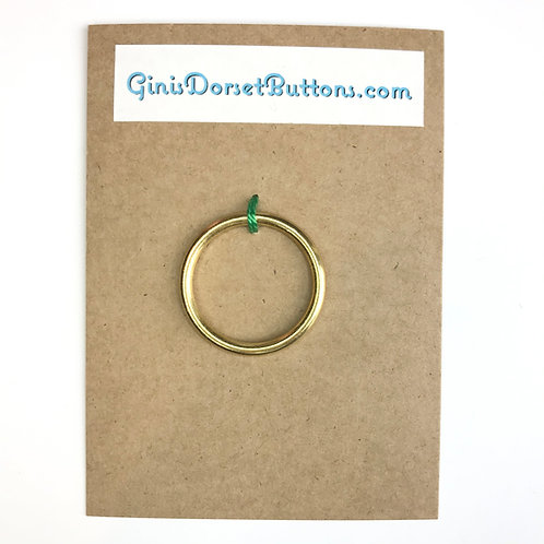 Solid Brass 32mm ring for Dorset button making