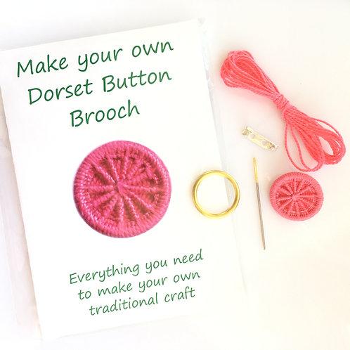 Make your own Dorset Button Kit - Cartwheel - Pink