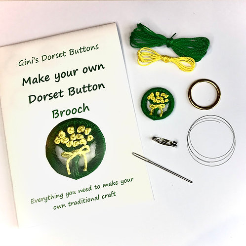 Make your own Dorset Button Kit - Posy - Yellow Flowers