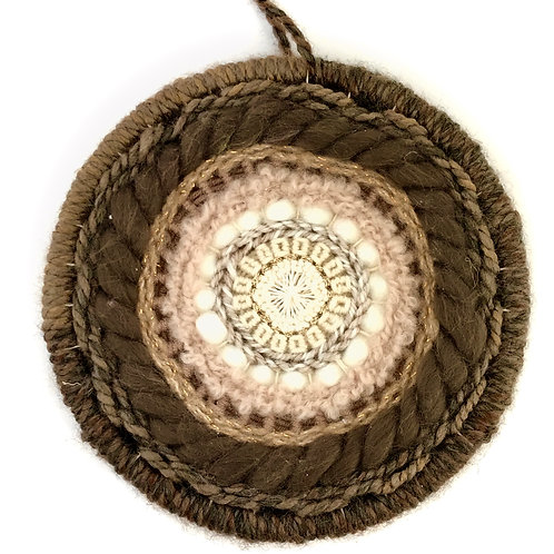 Dorset Button Woven mixed Wall Hanging - Extra Large