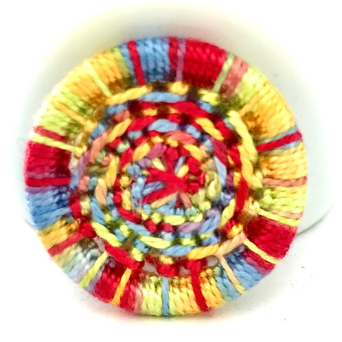 Dorset button brooch - spiral design